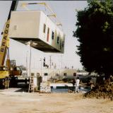 New Classrooms being hoisted into position