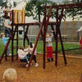 Big Yard's Original Play Structure (notice there are no bike paths)